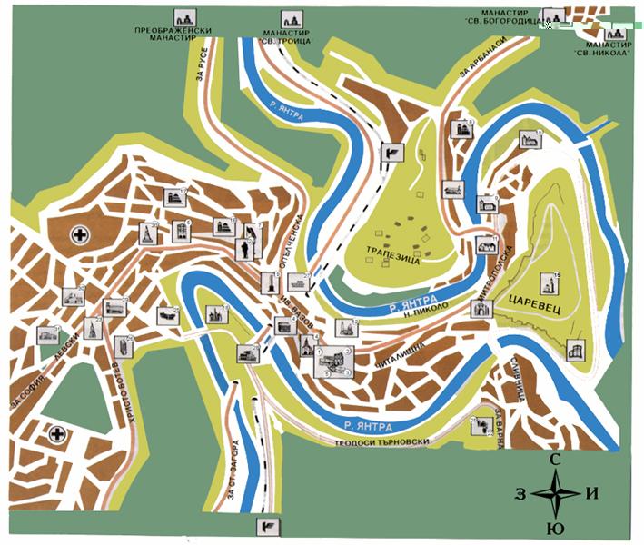 Veliko Tarnovo map