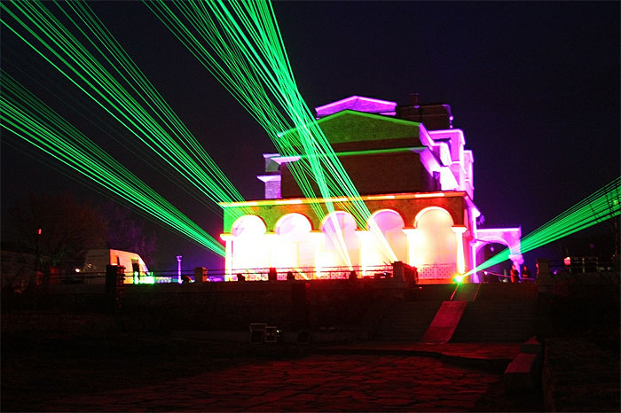 3D mapping and laser show in Veliko Tarnovo last year